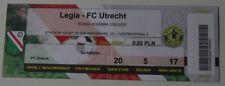 Ticket for collectors EC Legia Warszawa FC Utrecht 2002 Poland Holland
