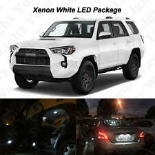 18x White LED Interior Bulbs + Fog Reverse Tag Lights for 2015 2016 2017 4Runner