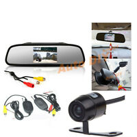 """Mini Funk Kabellos HD Farb- Rückfahrkamera 170°+ 4.3"""" Auto Monitor Rückspiegel"""