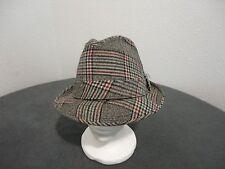 Vintage Hombre Dobbs Cuadros Sombrero con Plumas 7 3/8