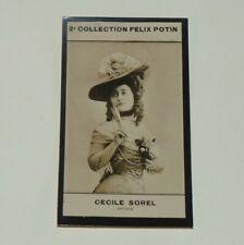 PHOTO IMAGE FELIX POTIN 2ème ALBUM 1908 CECILE SOREL ARTISTE ACTRICE COMEDIENNE