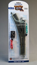 BACHMANN E-Z TRACK HO REMOTE LEFT HAND SWITCH nickel silver roadbed 44561 NEW
