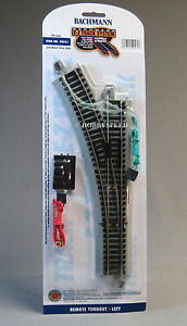 BACHMANN E-Z TRACK HO REMOTE LEFT HAND SWITCH nickel silver roadbed BAC44561 NEW