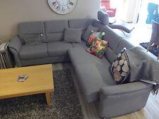 Sofa Garnitur Global 8400 - Polstermöbel Ecksofa Grau Lounge Relax 229x259cm Neu