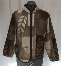 Coldwater Creek Size PL 14-16 Petite Tapestery Leaf Autumn Jacket Lightweight