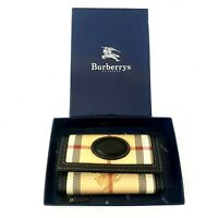 Vintage 1980s Burberry London Nova Check Key Case Wallet Made in Italy