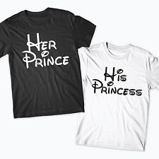 His Princess Her Prince Matching Tshirt Set Couples Tshirt Married Mr Mrs Disney