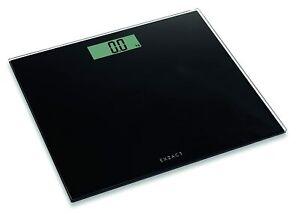 Exzact EX9360 ColorSlim Digital Bathroom Scale - Black