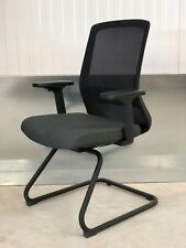 BRAND NEW:DESIGNER BLACK MESH BACK/GREY SEAT PAD/ CANTILEVER OFFICE/ HOME CHAIR