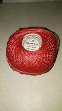 """Mercerie ancienne, écheveau corail fil 100% lin torsadé """"Au Bouton d'Or"""" tricot"""