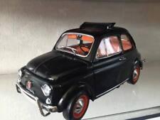 #125 Fiat 500 L 1968 Tetto Aperto Nero con interni rossi - BURAGO 1:16
