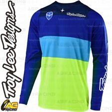Troy Lee Designs 2019 SE Beta Flo Yellow Blue Race Jersey Shirt Motocross Enduro