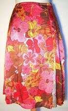 Geblümte knielange Damenröcke aus Seide für Party-Anlässe