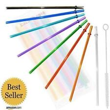 Rainbow Colored Replacement Acrylic Straw Set Of 8, For 16Oz, 20Oz, 24Oz Tumbler