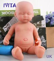 IVITA 15'' Skin Tone Silicone Reborn Realistic Sleeping Baby Girl Lovely Doll