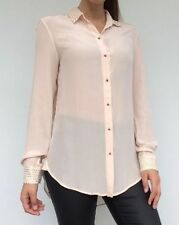 Zara Collared Regular Size Tops & Blouses for Women