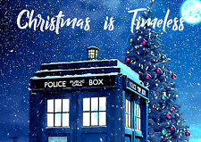 Doctor Who Tardis Print. Christmas is Timeless. A3 Poster.
