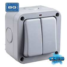 BG Electrical WP42 Nexus Storm 2 Gang 2 Way Single Pole Switch With Neon Ip66