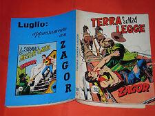 ZAGOR ZENITH- ORIGINALE- N°123 a -LIRE 200- (ZAGOR gigante N°72)-DEL 1971- raro