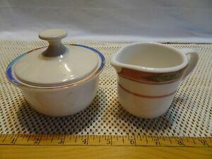 Epoch Collection Mugs Blue Desert CREAMER AND SUGAR W/LID VGUC