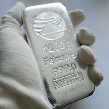 Lingot argent 1 kilo numéroté avec certificat - Silver bar 1 kilo