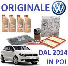 KIT TAGLIANDO FILTRI ORIGINALI + OLIO CASTROL VW POLO (6R,6C) 1.2 TSI 66KW 90CV