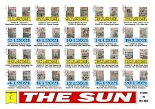 More details for 2021 complete year the sun newspapers all england euro 2020 olympics editions