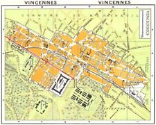 Paris. vincennes 1920 ancienne vintage carte plan graphique