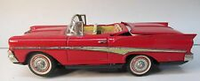 "Kosuge FORD RETRACTABLE ROOF CAR 9"" battery operated tin litho complete working"