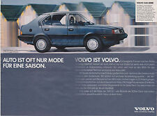 VOLVO 340-SERIE PUBLICITE PRESSE GERMAN CAR ADVERT 1987 - COUPURE MAGAZINE