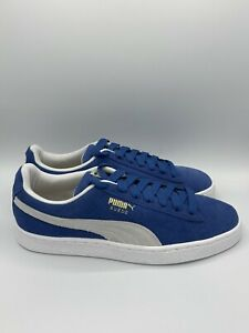Puma Suede Classic+ Men's Shoes Casual Sneakers 352634 64 Blue White