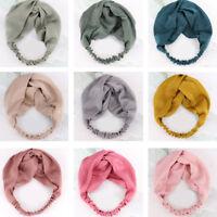 Women Wide Sports Yoga Headband Stretch Hairband Elastic Hair Band Boho Turban #