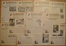 11 x Der Wellensittich Fachblatt 10 Jahrgang 1938 RAR