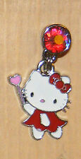 Hello kitty Red Fairy  phone charm plug anti-dust 3.5mm iphone 4 4s smart Phone