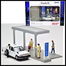 Tomica Limited Vintage TOMYTEC Diocolle 64 Carsnap 04a Taxi Station TOYOTA CROWN
