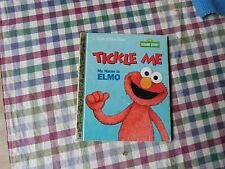 LITTLE GOLDEN BOOK - SESAME STREET , TICKLE ME MY NAME IS ELMO