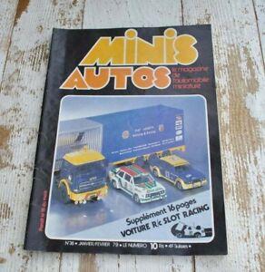 Vintage Minis Auto Magazine issue 38 - Miniature car model - French