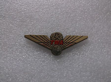Vintage Genuine TWA Airlines Gold Toned Pilot's Wings Pin