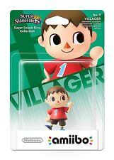 Nintendo Wii U 3DS Super Smash Bros No 9 Villager Collectible Figure Amiibo New