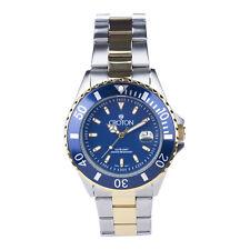 Croton Men's CA301295TTBL Quartz Date Blue Dial Two-Tone Bracelet 42mm Watch