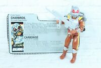 Vintage 1988 GI JOE CHARBROIL ACTION FIGURE W/ FILECARD AND ACCESSORIES!!