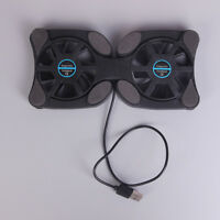 "Laptop mini octop usb cooling notebook 2 fans cooler pad foldable fan 10""-14"" Tw"