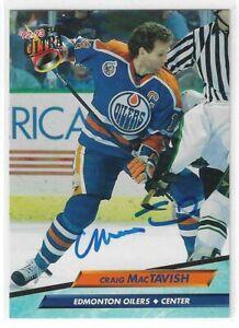 Craig MacTavish Signed 1992/93 Fleer Ultra Card #294 Edmonton Oilers