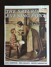 "1936 Saturday Evening Post COVER ONLY Norman Rockwell ""Medicine Giver"""
