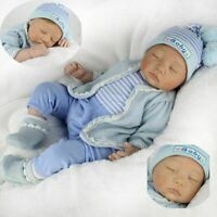 "22""/55cm Silicone Reborn Doll Real Life Like Looking Newborn Baby Boy Dolls Xmas"