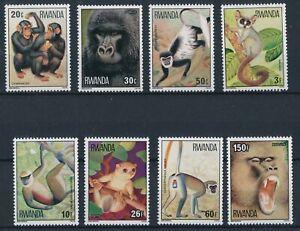 [P15027] Rwanda 1978 : Monkeys - Good Set of Very Fine MNH Stamps