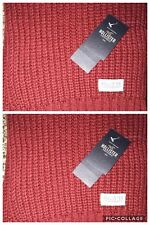 NWT Hollister By A&F  knit scarf One Size  guys Lot of 2 scarves $45