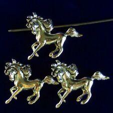 6Pcs 32x24x5mm Carved Tibetan Silver Horse Pendant Bead SD201989