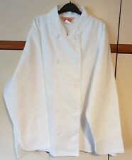 Chef jacket Long Sleeve 100 % COTTON Double-Breasted SIZE 54  Length 32 Inch