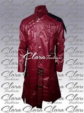 Star Lord Chris Peter Guardian of Galaxy Synthetic Leather Trench Coat Jacket